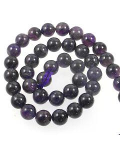 Amethyst B Grade 10mm Round Beads