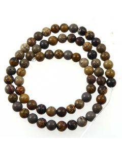 Grey Apache Jasper Beads