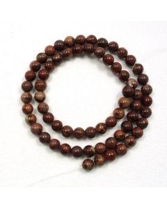 Apache Jasper 6mm Round Beads