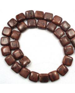 Apache Jasper 12mm Flat Square Beads