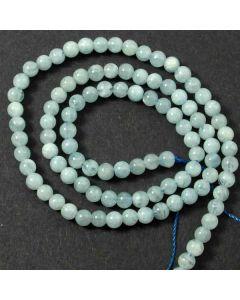 Aquamarine 4mm Round Beads