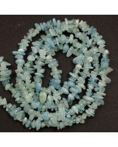 Aquamarine 5x8mm Chip Beads