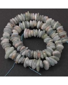 Aquamarine 8x12mm (approx) Sliced Nugget Beads
