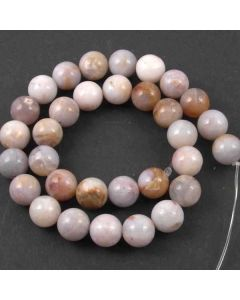 Natural Australian Agate 12mm Round Beads