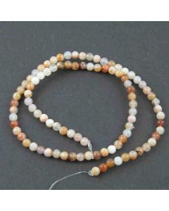 Natural Australian Agate 4mm Round Beads