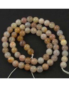Natural Australian Agate 6mm Round Beads
