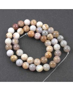 Natural Australian Agate 8mm Round Beads