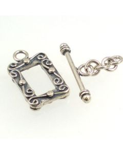 Bali Sterling Silver Toggle Clasp