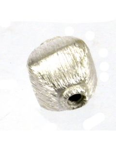 Bali Bead Brushed Silver 7.5x5.8x5.8mm B23