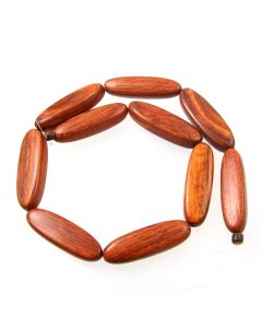 Bayong approx. 40x12x10mm Long Flat Oval Beads - av. 10 beads