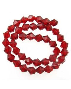 Deep Red Faceted Glass Beads 8mm BICONE