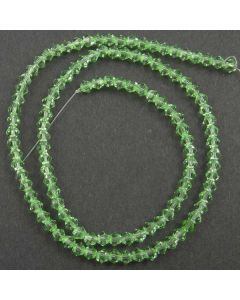 Peridot Green Faceted Glass Beads 4mm BICONE