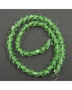Peridot Green Faceted Glass Beads 6mm BICONE
