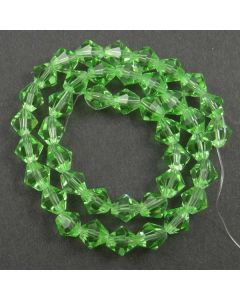 Peridot Green Faceted Glass Beads 8mm BICONE