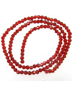 Deep Red Faceted Glass Beads 4mm BICONE