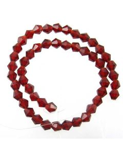 Deep Red Faceted Glass Beads 6mm BICONE