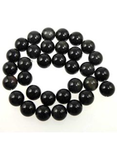 Black Obsidian 11.5mm Round Beads