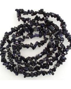 Blue Goldstone 5x8mm Chip Beads