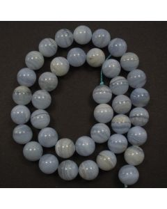 Blue Lace Agate 10mm Round Beads