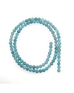 Blue Sponge Quartz (dyed) 4mm Round Beads