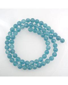 Blue Sponge Quartz (dyed) 6mm Round Beads