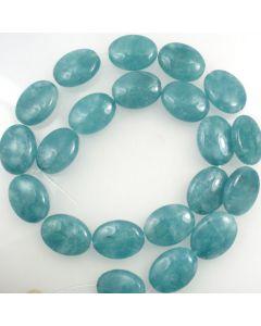 Blue Sponge Quartz (dyed) 13x18mm Oval Beads