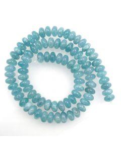 Blue Sponge Quartz (dyed) 5x8 Rondelle Beads