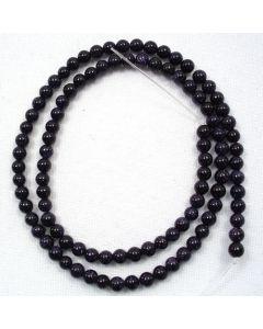 Blue Goldstone 4mm Round Beads