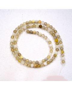 Botswana Agate 4mm Round Beads