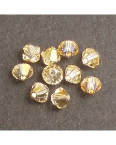 Swarovski® 4mm Crystal Brandy Bicone Xilion Cut Beads (Pack of 10)