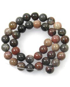 Petrified Wood 10mm Round Beads