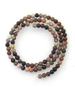 Petrified Wood 4mm Round Beads