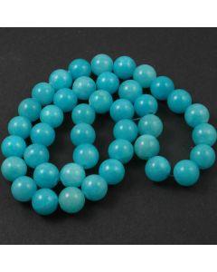 Mashan Jade (dyed Bright Turquoise) 10mm Round Beads