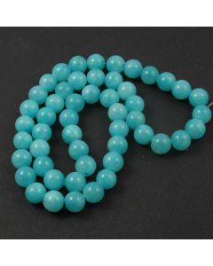 Mashan Jade (dyed Bright Turquoise) 8mm Round Beads