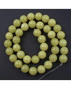Butter Jade 10mm Round Beads