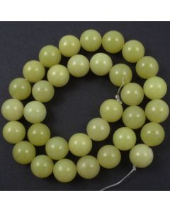 Butter Jade 12mm Round Beads