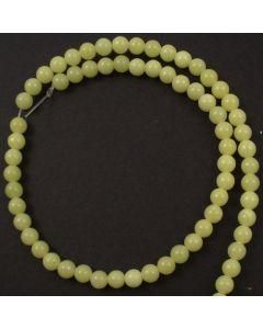 Butter Jade 6-6.5mm Round Beads