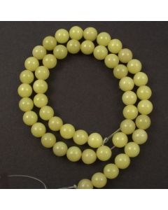 Butter Jade 7.5-8mm Round Beads