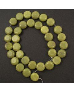 Butter Jade 12mm Coin Beads