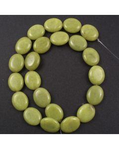 Butter Jade 15x18mm Oval Beads