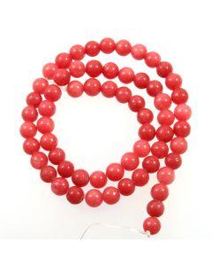 Malay Jade (Dyed Carnation Pink Quartzite) 6mm Round Beads