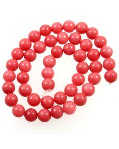 Malay Jade (Dyed Carnation Pink Quartzite) 8mm Round Beads
