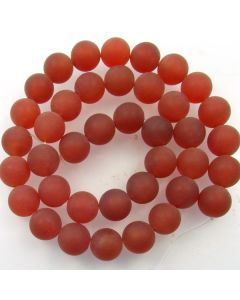 Carnelian 10mm FROSTED Round Beads