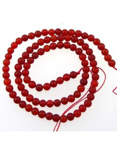 Carnelian 4mm FROSTED Round Beads