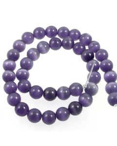 Cats Eye Beads - 9.5mm Amethyst