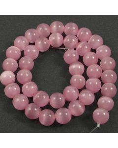 Cats Eye Beads - 9mm Pink