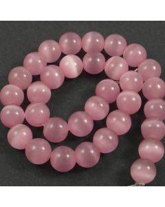 Cats Eye Beads - 11mm Pink