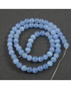 Cats Eye Beads - 5.5mm Blue