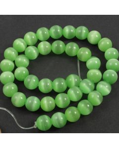 Cats Eye Beads - 9.5mm Green