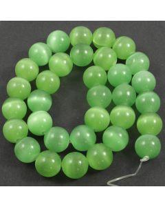 Cats Eye Beads - 11.5mm Green